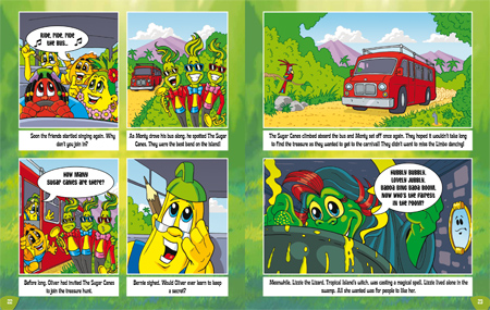 Tropical island carnival book sample page 2