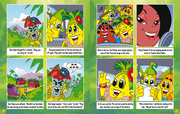 Tropical Island Carnival Book sample